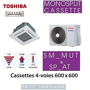 Cassettes 4-voies 600 x600 Toshiba SDI RAV-SM564MUT-E