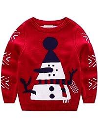 ELSA & ANNA® Calidad Tejido Unisex Niños Chicos Niñas Puente de Navidad Suéter de Navidad Xmas Saltador Christmas Jumper ES-REDJUM01