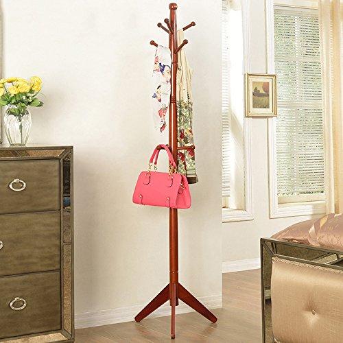 Solid Cappotto di legno Rack Landing creativa di stile europeo semplice e porta moderni in camera da letto a parete appendere gli abiti Shelf ( colore : # 2 )