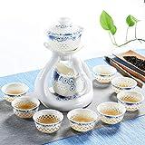 CJZ TEA Set da tè per la casa Set da tè in Ceramica Kung Fu in Ceramica Teiera semiautomatica (Dimensioni : F.)