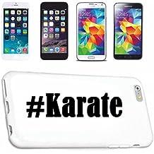 cubierta del teléfono inteligente Samsung S6 Galaxy Hashtag ... #Karate ... en Red Social Diseño caso duro de la cubierta protectora del teléfono Cubre Smart Cover para Samsung Galaxy Smartphone … en blanco ... delgado y hermoso, ese es nuestro hardcase. El caso se fija con un clic en su teléfono inteligente