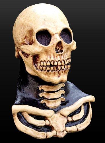 Maske Latex Knochen Totenkopf (Halloween Maske Totenkopf Skelett Schädel Knochen)