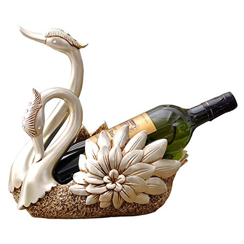 Handwerk-regal-schrank (HUIYUE Swan Weinregal,Kreativ Wine Bottle Holder,Wohnzimmer Tv-Schrank Dekoration Wine Regal Handwerk Geschenke Weinhalter-A 26x19x28cm(10x7x11inch))