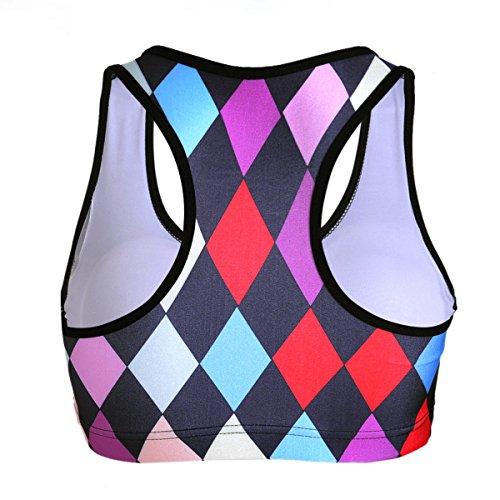 Hsnnyqt HSports Reggiseno La Signora Il Tempo Libero L'educazione Fisica La Biancheria Intima Di Sport Senza Soluzione Di Spremere Il Reggiseno Yoga Piccola Vest color