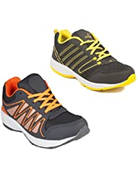 Redon Men's Pack Of 2 Sports Running Shoes (Running Shoes, Jogging Shoes, Gym Shoes, Walking Shoes) - B074HFLZ6M