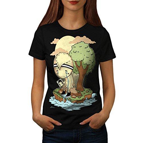 schrei-mich-ein-fluss-unterbrechung-teilt-damen-neu-schwarz-l-t-shirt-wellcoda
