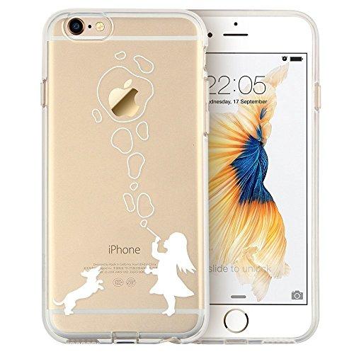 Blitz® Mania Series Transparent Weiche Silikon Schutzhülle TPU Bumper Case iPhone Schaaf iPhone 6 6s Luftblasen