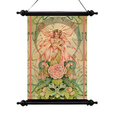Design Toscano Phoenix Rising Canvas Wall Scroll Tapestry