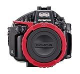 Olympus PT-EP14 - Caja estanca para cámara E-M1 Mark II, Negro y Rojo