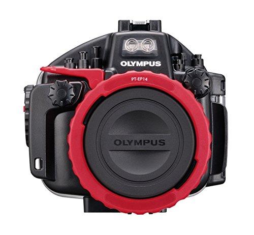 Olympus PT-EP14 Unterwassergehäuse (geeignet für OM-D E-M1 Mark II, bis 60 m Tauchtiefe) schwarz