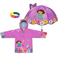 Kidorable Dora The Explorer Raincoat WITH Umbrella (3T) by Kidorable