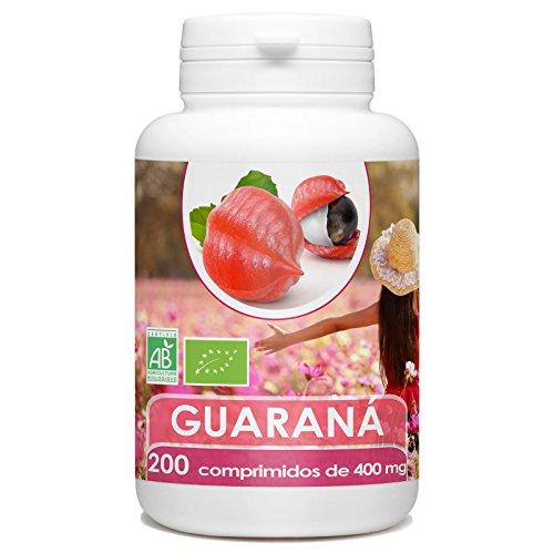 Guarana Organica - 200 tabletas 400 mg