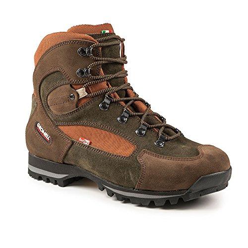gronell KANGOO Scarpe da trekking/Scarpa di ultima generazione, leggero, resistente, impermeabile, suola Vibram..., marrone/arancione, 41