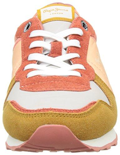 Pepe Jeans London Damen Verona W Colors Sneakers Mehrfarbig (Light Sunset)
