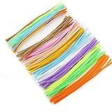100pz ciniglia Craft scovolini giocattoli per bambini Crafts for Kids Stuffed Twist bars tubo 0.6 * 30cm Light Color