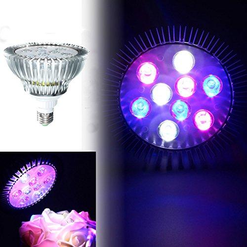 Lampe Full Aquarium Spectrum (ILS - 9W E27 PAR38 LED Full Spectrum Korallenriff Anlage wachsen Licht-Fisch-Behälter-Aquarium)