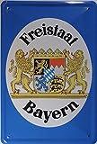 Blechschild 20x30 cm Freistaat Bayern Wappen Grenzschild Metall Schild