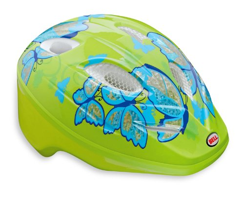 Bell Kinder Fahrradhelm Splash Pale Green/light Blue Buttrflies, 46-50