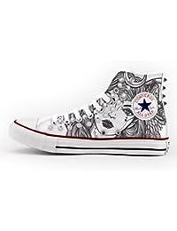 5d491e1dabce Converse All Star High Customized and Studded - handmade shoes - Italian  Brand - - lady