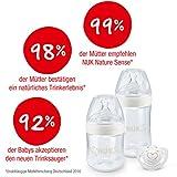 NUK Nature Sense Perfect Start Set, 4 x Nature Sense Flasche, 2 x Silikon Trinksauger, 1 x Flaschenbürste, 1 x Genius Silikon Schnuller, von 0 bis 6 Monate & von 6 bis 18 Monate - 5