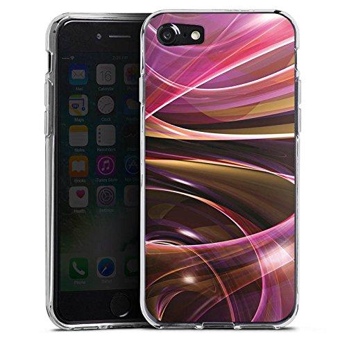 Apple iPhone X Silikon Hülle Case Schutzhülle Wirbel Strudel Muster Silikon Case transparent
