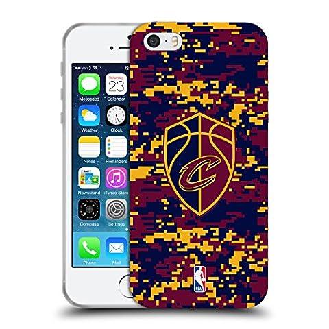 Coque Iphone 5 Nba - Officiel NBA Camouflage Numérique Cleveland Cavaliers Étui