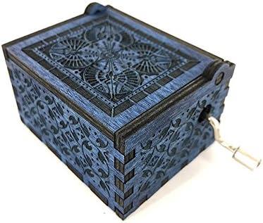 Cuzit antique en bois bois bois sculpté Boîte à musique jouet à Femmeivelle Boîte à musique Gift-Bleu  | Pas Cher  dcf09f