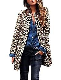 Camiseta de Manga Larga Atractiva del Leopardo de impresión Batwing Blusa para Las Mujeres Suelta Camisas STRIR
