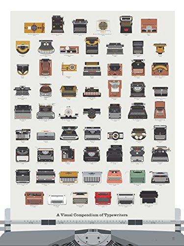 Pop Chart Lab Schreibmaschine Kunstdruck Poster - Ein visuelles Kompendium der Schreibmaschinen Posterdruck, 18 X 24, Geschenk für Schriftsteller (Kunst-geschichte-chart)