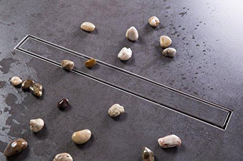 Edelstahl Duschrinne 90cm Ablaufrinne Bodenablauf Siphon mit Geruchsstop Bodenbefestigung