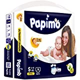 Papimo Baby Pants Diapers with Aloe Vera , Small, 78 Count