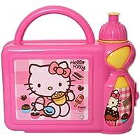 Preisvergleich für Hello Kitty Brotdose mit Trinkflasche Set Pausenset Brotbox Lunchbox Sanrio