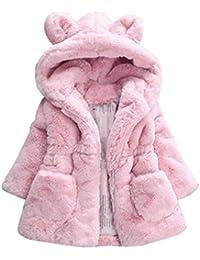 Amlaiworld Bebés niña otoño invierno Abrigo con capucha chaqueta gruesa ropa de abrigo ...