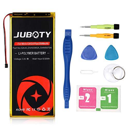Juboty, batteria di ricambio da 2500 mAh per Motorola Moto G4 Plus XT1641 XT1642 XT1643 XT1644 GA40 SNN5966A SNN5970A