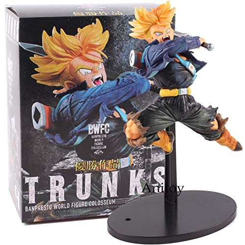 Dragon Ball Z BWFC Super Saiyan Trunks Figura PVC Figura de Acción Modelo Dragonball Trunks Juguetes