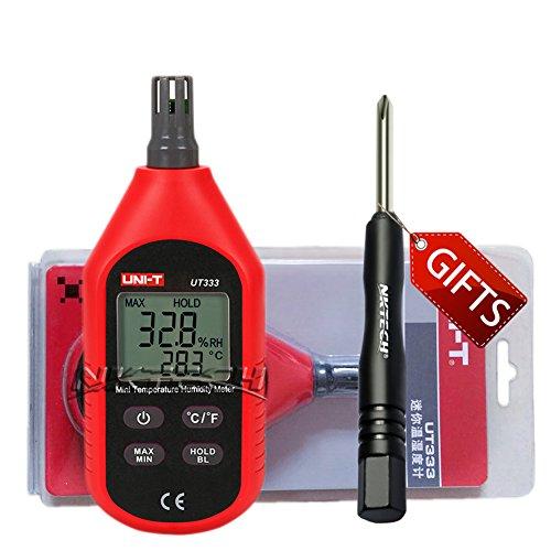 Preisvergleich Produktbild nktech Uni-T ut333Mini Digital Temperatur Luftfeuchtigkeit Meter Thermometer Hygrometer mit Max/Min Automatische Power-Off Hintergrundbeleuchtung Tester + tl-1Schraubendreher