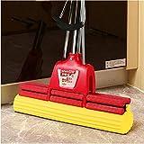 SSAYY Spray Mop Design con Impugnatura Umanizzata/Aste in Acciaio Inossidabile Scopa per Uso Domestico/Straccio in Cotone per Colla per Uso Domestico