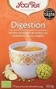 Yogi Tea - Digestión, Infusión Ayurvédica de Hierbas con Cardamomo, Hinojo y Jengibre - 17 Bolsitas, 30.6 g