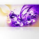 LanaKK - Lightning Lila - Fototapete Poster-Tapete - edler Kunstdruck auf Vliestapete mit Stuck Optik in 420x240 cm
