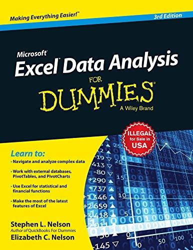 Microsoft Excel Data Analysis For Dummies, 3ed
