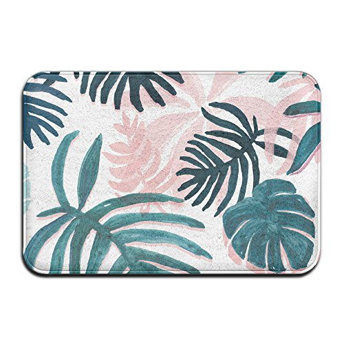 Tropical Pink Plam Blätter Schmutzfangmatten 4060cm