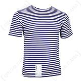 Epic Outdoor Camiseta Rusa con diseño de Rayas, Color Azul Claro Azul Azul Medium
