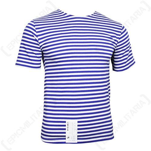 Blau Gestreiftes T-shirt Top (Russische Fallschirmjäger -T-Shirt - hellblauen Streifen (Medium, Hellblauen Streifen))
