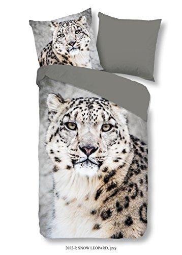 good morning Renforcé Bettwäsche 4 teilig Bettbezug 135 x 200 cm Kopfkissenbezug 80 x 80 cm Snow Leopard 2032.03.08 Grey