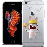 Caseink Coque pour Apple iPhone 6/6s Plus 5.5 The Lapins Crétins [Collection Officielle] Design Breaker [Antichoc arrière - Souple - Ultra Fin - Imprimé en France]
