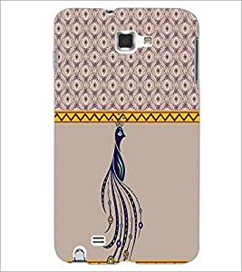 PrintDhaba Peacock D-3794 Back Case Cover for SAMSUNG GALAXY NOTE 1 (Multi-Coloured)