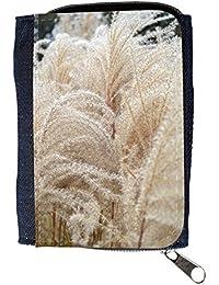 le portefeuille de grands luxe femmes avec beaucoup de compartiments // M00156447 Espadaña de hierba de trigo Naturaleza // Purse Wallet