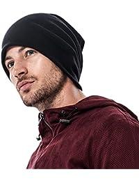 2f134a3793e45 LAOWWO Soft Feel llano gorro de punto para hombre mujeres unisex clásico  gorro gorro deporte sombrero
