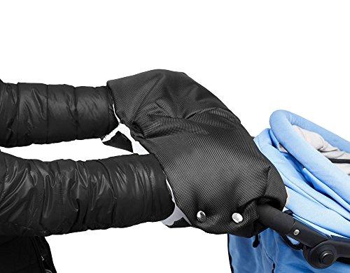 Manicotto Scaldamani per Passeggino, Mture scaldamani antigelo accessori , Passeggino per Neonati Single Handle Guanti senza dita di spessore caldo