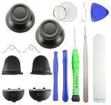 ToKa-Versand® Playstation 4 PS4 Analog Sticks Schwarz sowie Controller Tasten Button L1 L2 R1 R2 und 8x teiliges Werkzeug Set 16in1